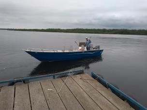 Novo barco para 3 pescadores + guia!